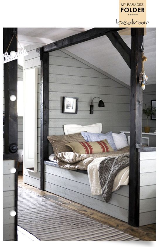 """would be a cool outdoor """"bedroom"""" under an eve..."""