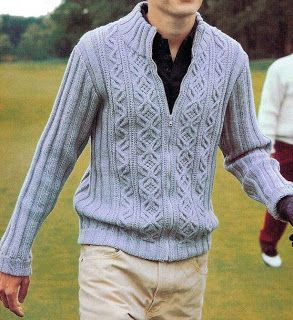 Free Knitting Charts: Jacket for man