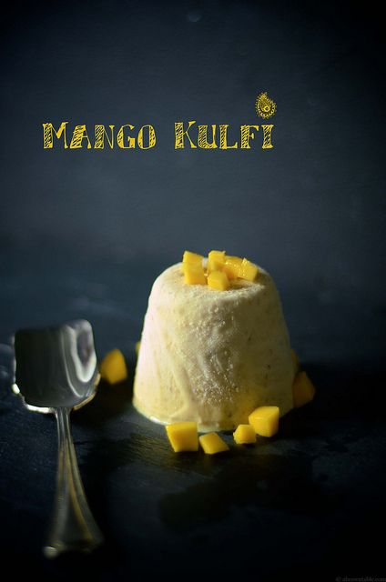 An easy mango kulfi recipe, infused with saffron and cardamom and a little bit of ground almond meal.