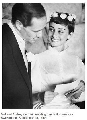My beloved Audrey Hepburn on her (first) wedding day. Eternally chic, even with a wacky flower crown.