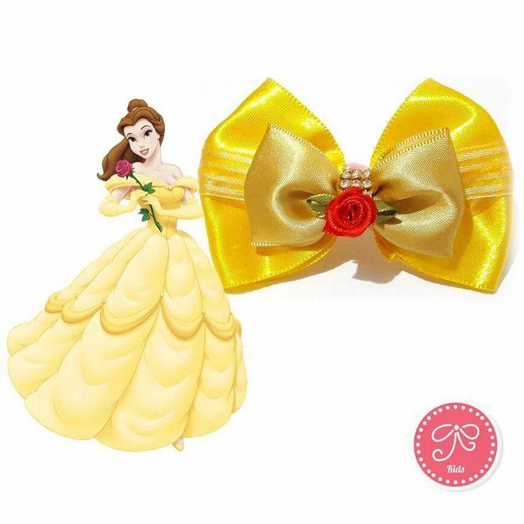 Laço Bela #bela #abelaeafera #laço #princesa #disney #modainfantil #kids…