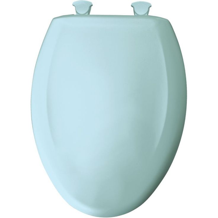 Bemis 1200SLOWT Elongated Closed-Front Toilet Seat and Lid with Whisper-Close® Dresden Blue Accessory Toilet Seat Elongated