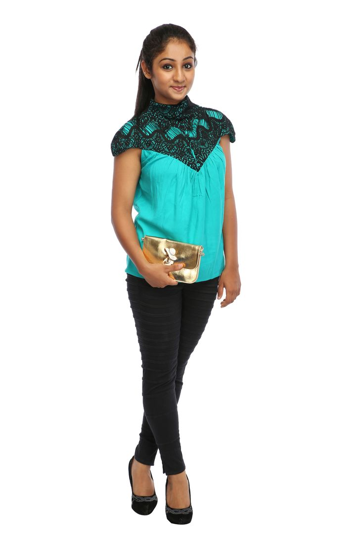 latest tops collection by TRYFA at lowest price Shop On: http://www.tryfa.com/tops/lacy-bell-top