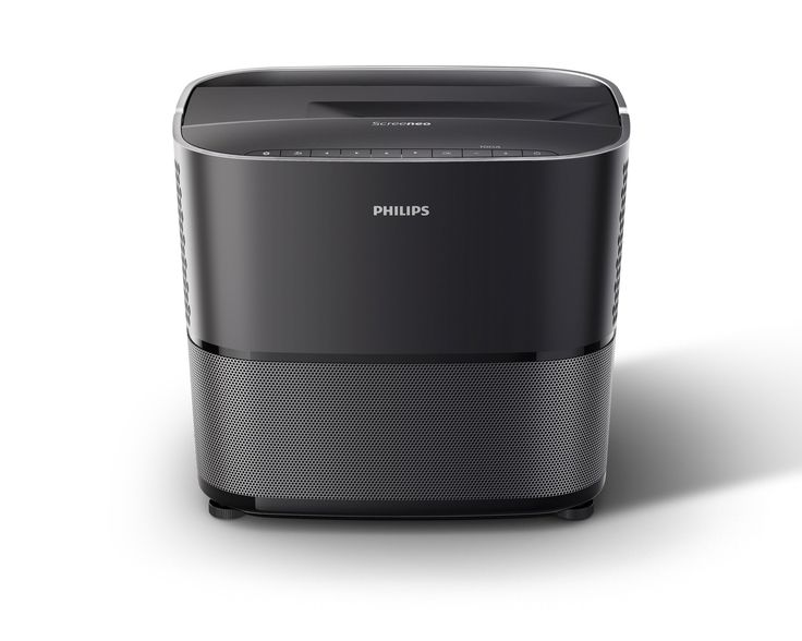 Philips HDP2510 Screeneo 2.0, Ultra Short Throw Projector, 2000 Lumens, 1080p, HDMI, 120 Inches Display, USB, 2.1 Sound System
