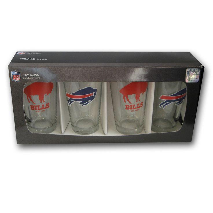 4 Pack Pint Glass NFL - Buffalo Bills