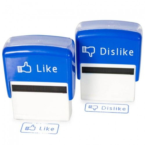 Like and Dislike Social Media Stamp - Set of 2 on Yellow Octopus  #giftsformen #fathersday #fathersdaygiftideas #gifts #like #dislike #social #media #stamp