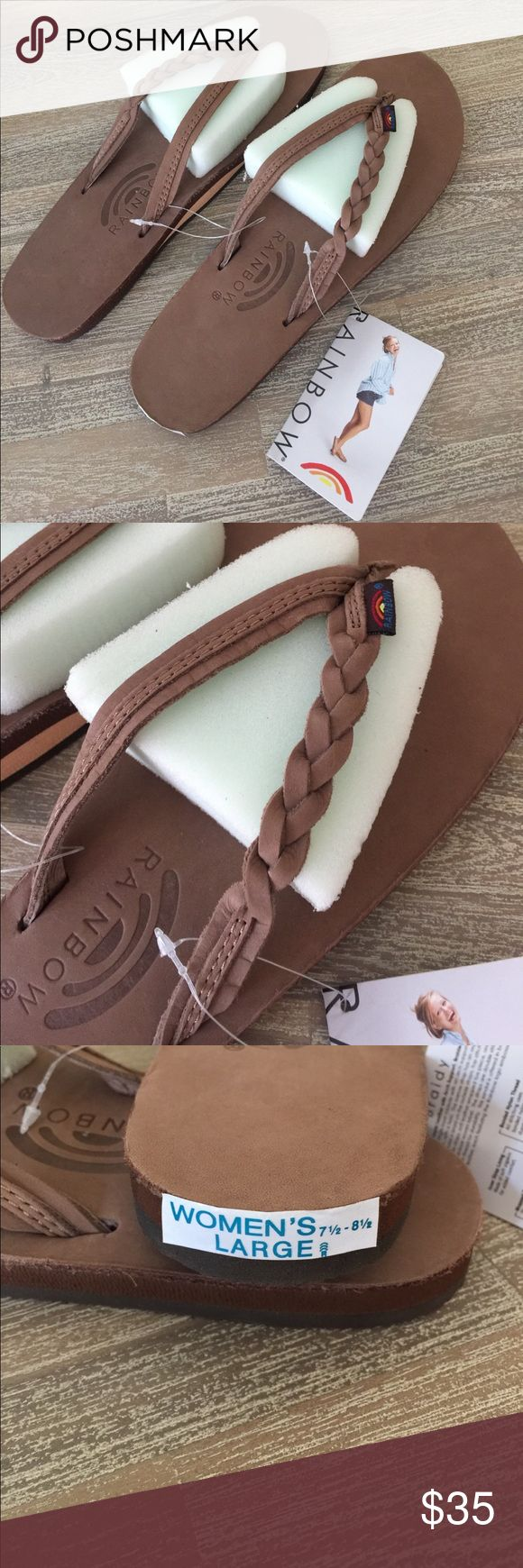 Rainbow Sandals. Size Large 7.5-8.5. NWT Rainbow Sandals. Size Large 7.5-8.5. NWT. Bought wrong size Rainbow Shoes Sandals