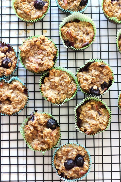 Baked Oatmeal Cupcakes | Recipes Worth Repeating http://recipesworthrepeating.com/recipes/gluten-free/baked-oatmeal-cupcakes/