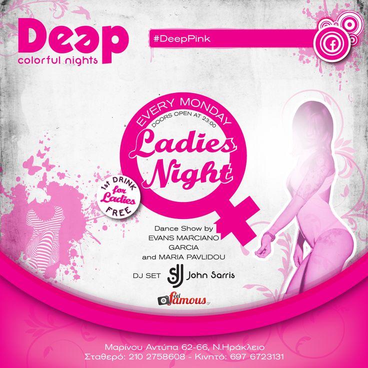 #DeepPink #MondayNights #LadiesNights ~ Guest Dance Show Maria Pavlidou - Evans Marciano Garcia
