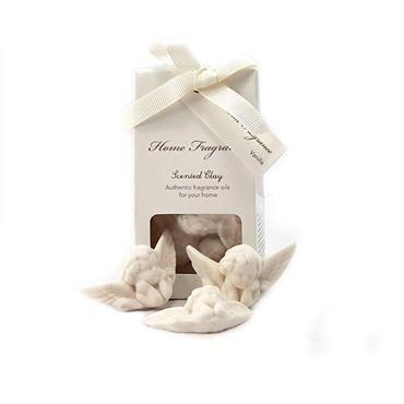 Zestaw o zapachu wanilii. W jego skład wchodzą gipsowe aniołki. Doskonały do szafy na ubrania, łazienki, salonu..  rozmiar: 3x5cm