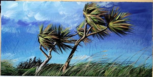 cabbage tree art - Google Search