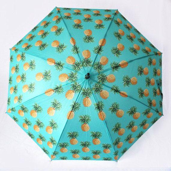 Le Tiki  parapluie rétro ananas Tropical
