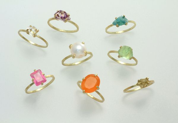 色とりどりリング 指輪