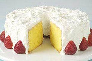 Cool Lemon Coconut Sour Cream Cake