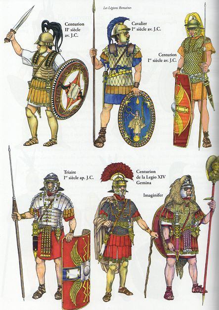 Roman soldiers, arms and armor: