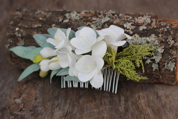 Floral hair comb Bridal comb headpieces Wedding combs Bridal