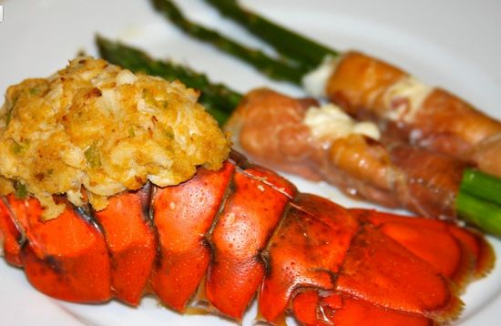 Crab Stuffed Lobster Tail Recipe