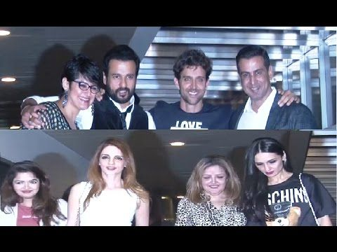 Bollywood celebs at Hrithik Roshan's 43rd birthday party - UNCUT VIDEO.