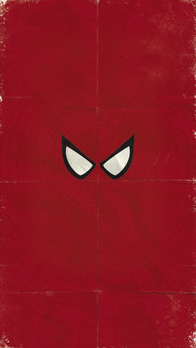 Spiderman Minimalist iPhone 5 wallpaper  go to website for iPhone 4 version  iPhone 4  5