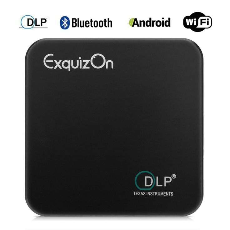 Exquizon E05 Pocket DLP Projector Android 4.4.4 Support Airplay Miracast for IOS & Android 1G8G Bluetooth Wifi Outdoor Projector //Price: $198.00//     #storecharger
