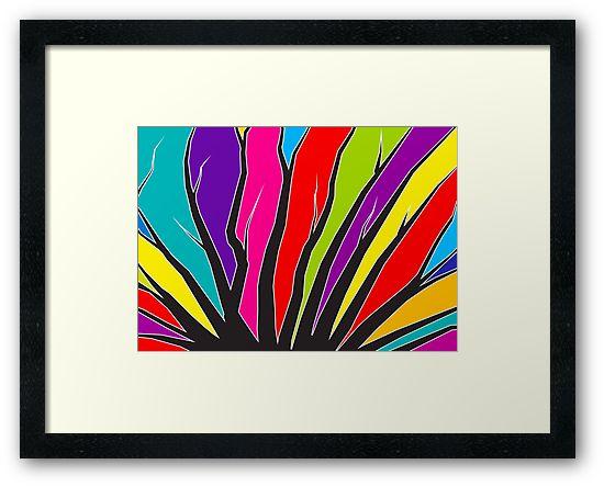 Delta - abstract framed print