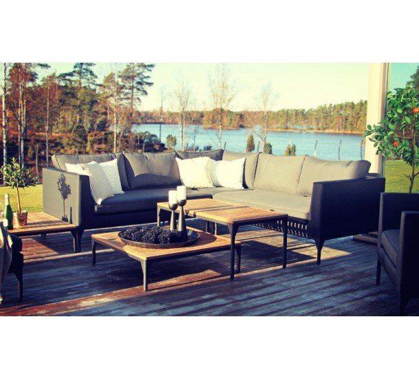 Brafab - Bastia  Loungesofa - Grå - Hjørne/afsluttende sofamodul