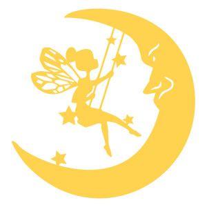 Silhouette Design Store - View Design #135653: moon fairy