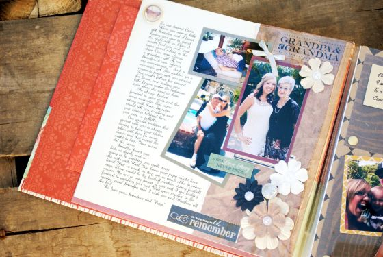 Letters to the Bride Scrapbook, Wedding Bridal shower gift from the bridesmaids and maid matron of honor