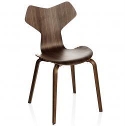 Grand Prix ™ Arne Jacobsen stol med træben / Stole - Kontormøbler, konferencemøbler, kantineindretning mm.