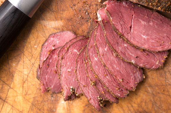 Canada goose pastrami. A traditional variant of pastrami from the Romanian Jewish community. Recipe on http://honest-food.net