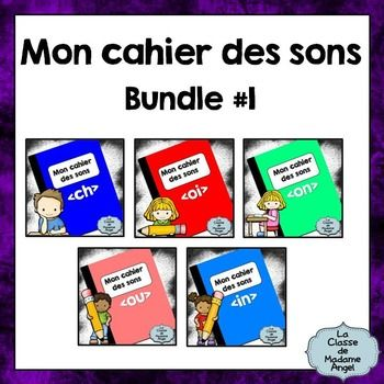 """""""Mon cahier des sons"""" is a series of booklets focusing on the various sounds in French.  Each booklet contains 7 activities for students to use while practicing the vocabulary.  Activities include a word search, fill in the blanks, read and illustrate the sentences and tracing exercises."""