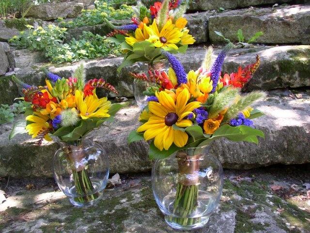 Summer Flowers Bridesmaids Bouquets
