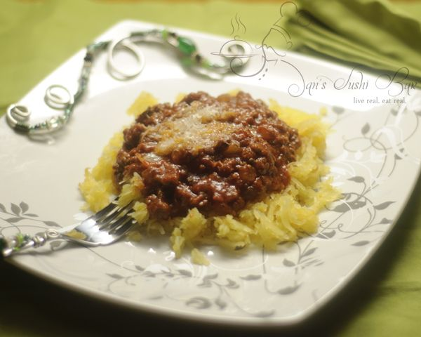 Spaghetti Squash with Meat Sauce | 90 minutes in heaven | Pinterest