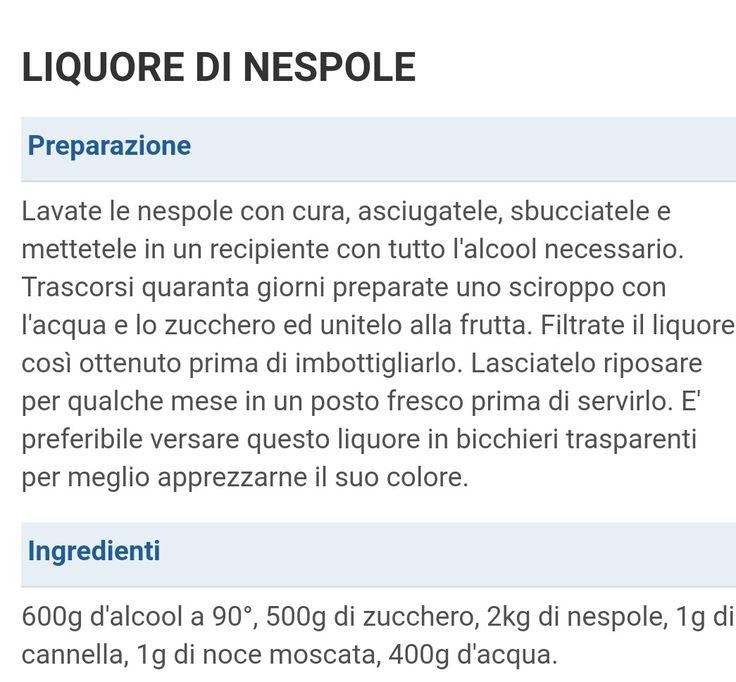 Liquore nespole
