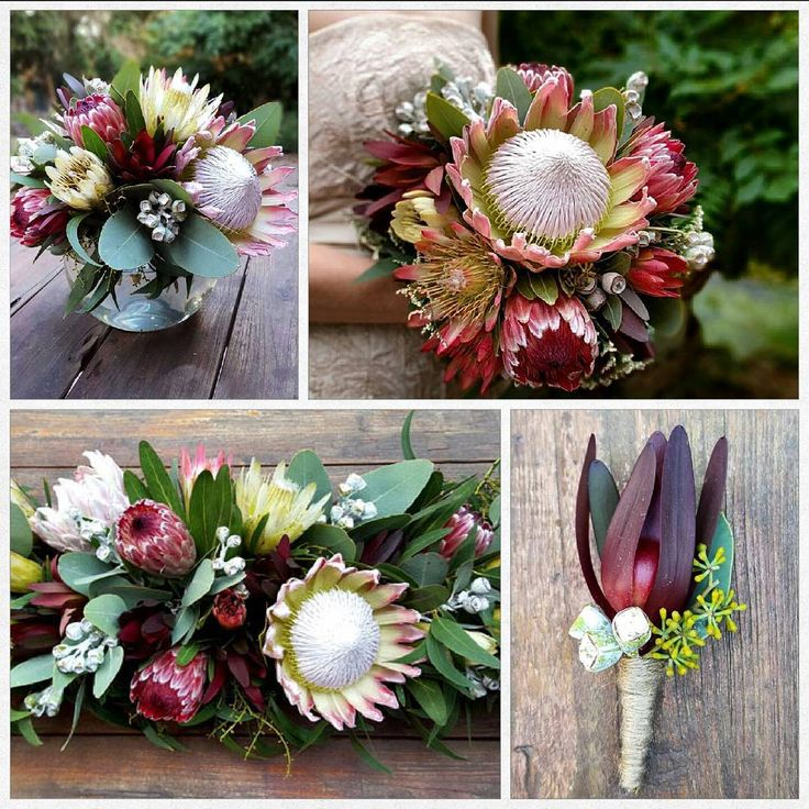 Australian native inspired wedding #australiannativewedding #australiannativebouquet #weddingflowers #florist #tablearrangement #buttonhole #wedding #flowers