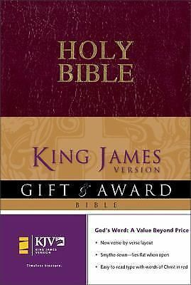 Holy Bible King James Gift and Award Zondervan Burgundy Faux Leather NEW SEALED