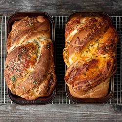 Soft Cheese Bread: Two Ways - cheddar & herb and Parmesan, garlic & herb