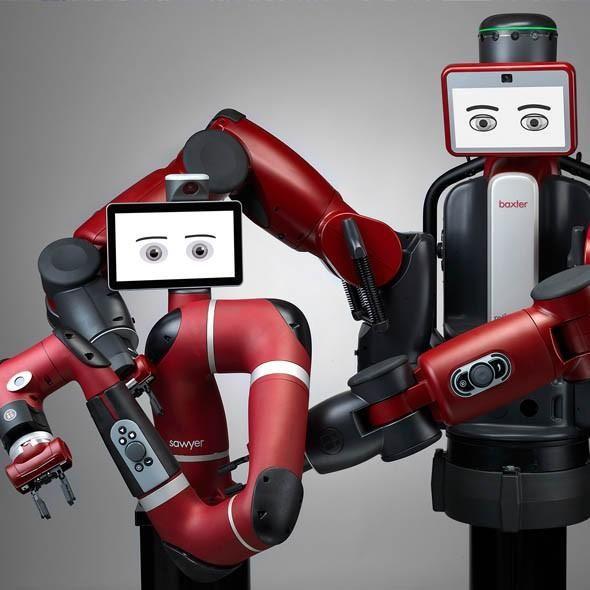 Många på arbetsmarknaden har olika typer av robotar som arbetskamrater. Nu kommer exempelvis Baxter att kunna stå sida vid sida med dig framöver.  http://computersweden.idg.se/2.2683/1.683010/samarbetsroboten?__s=zzds5hp4dvpthvw3ukk3