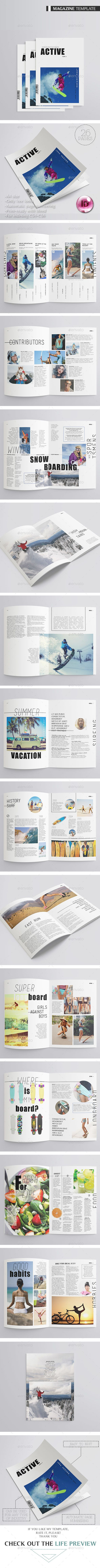 Active Sport Magazine 26 Pages - Magazines Print Templates Downlaod here : https://graphicriver.net/item/active-sport-magazine-26-pages/16364780?s_rank=210&ref=Al-fatih