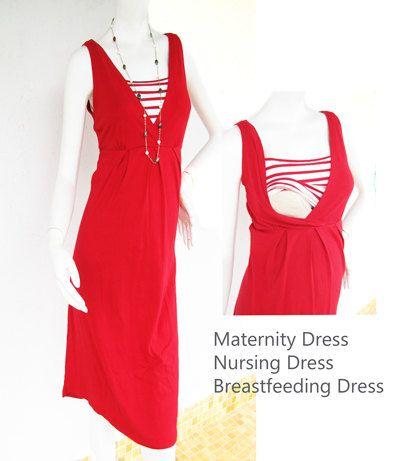 NAUTICAL Maternity Dress / Nursing Dresses by ModernMummyMaternity