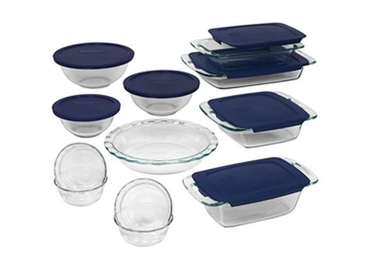 Pyrex 19-pc. Easy Grab Glass Bakeware Set with Plastic Lids