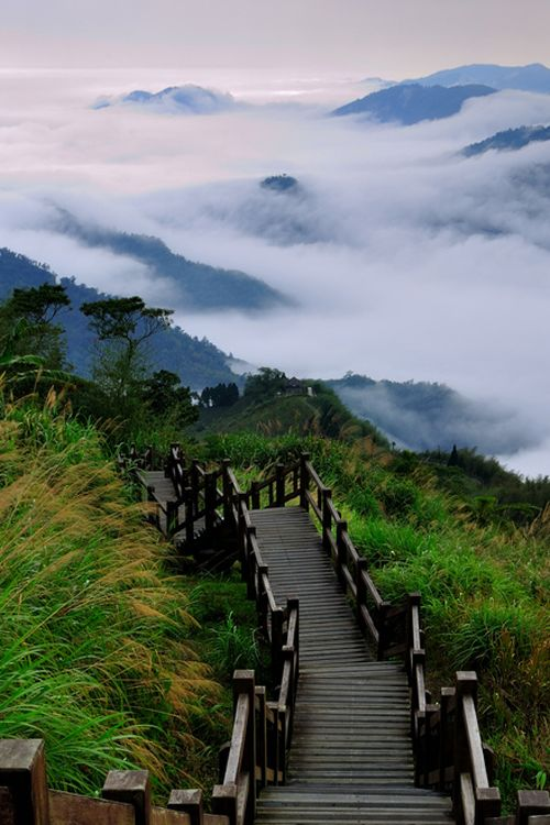 Stairs in the clouds, Taiwan