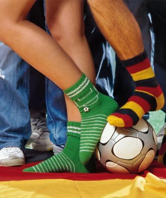 Fußball-Socken, 5910 - Gratisanleitung