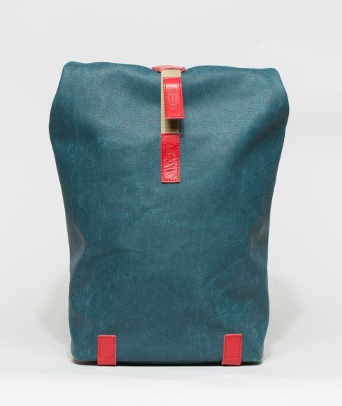 The Pickwick from Brooks England is a versatile canvas roll-top backpack. Made from water-resistant cotton and genuine Brooks leather trim.