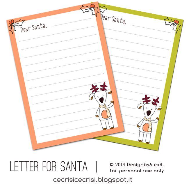 C'è crisi, c'è crisi! Guida alla Sopravvivenza sul Pianeta Terra...: Dear Santa, ... Letterina a Babbo Natale {stampabile}
