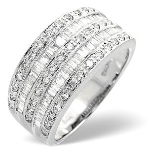 Unique Wide Band Diamond Rings | Platinum Wide Ring 1 Carat Diamond by The Diamond Store