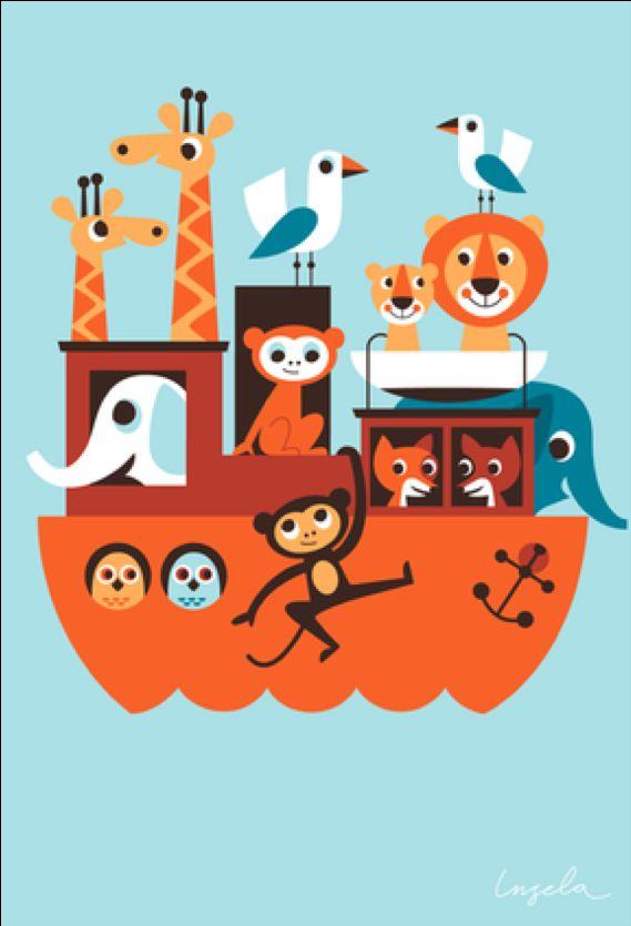 Greeting #card Ark from Noah by #Ingela P #Arrhenius from www.kidsdinge.com