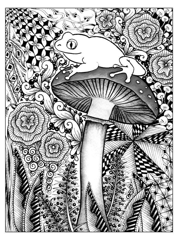 Free coloring page coloriage foret grenouille magnifique coloriage v g tal d 39 une grenouille - Coloriage magnifique ...