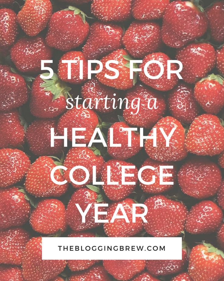How To Stay Healthy In College