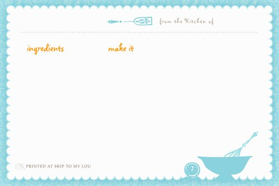 recipe card template.